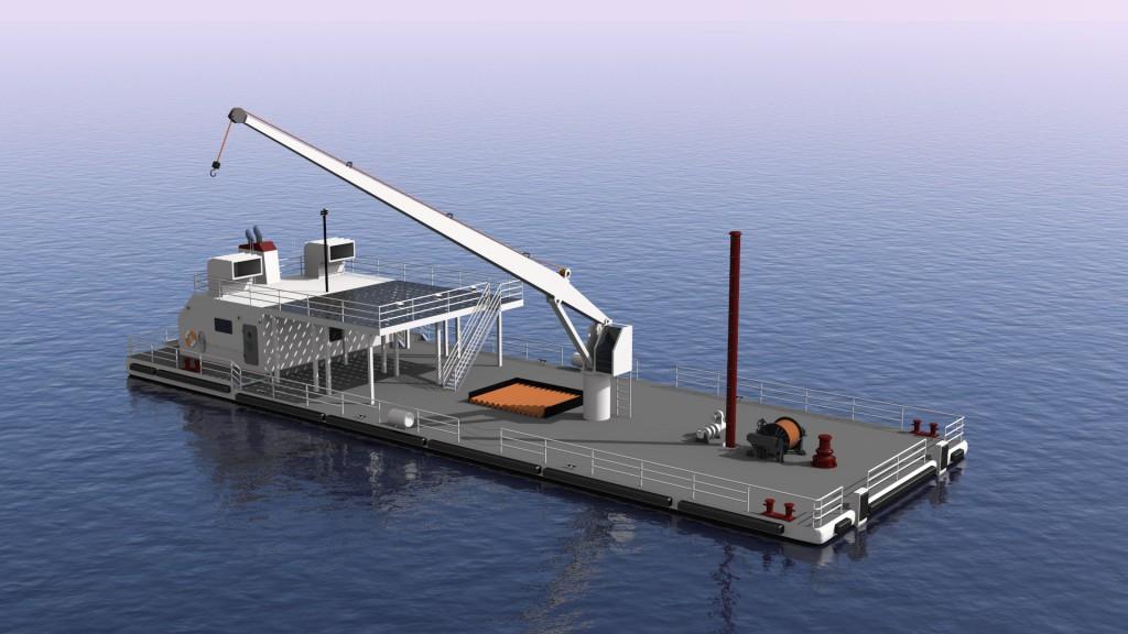 120' Crane Barge