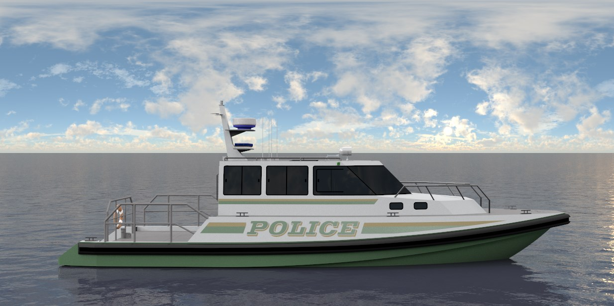 ' POLICE BOAT - SIDE VIEW @ WATERLINE - FINAL